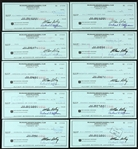 1981 Milwaukee Brewers Bud Selig Signed Cancelled Checks (Lot of 10) (JSA)