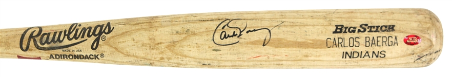 1995 Carlos Baerga Cleveland Indians Signed Rawlings Adirondack Professional Model Game Used Bat (MEARS LOA/JSA)