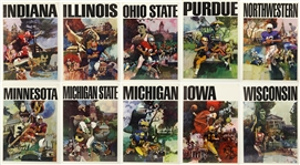 "1960s College Football 20""x 28"" Portrait Posters Including Wisconsin, Purdue, Michigan and more (Lot of 10)"