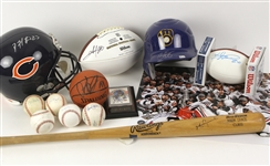 1940s-2000s Baseball, Basketball, and Football Signed Items Including Matt Gamel, Mark Grace and more (Lot of 14)(JSA)