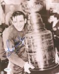 1940s-1950s Detroit Red Wings Sid Abel Signed Photo JSA