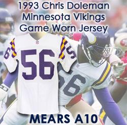 more photos 6f52e 7d77c Lot Detail - 1993 Chris Doleman Minnesota Vikings Signed ...