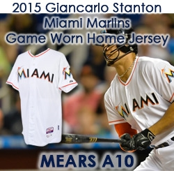 bf745a595 2015 Giancarlo Stanton Miami Marlins Game Worn Home Jersey (MEARS A10)