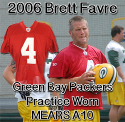 quality design 0aab0 4b06b Lot Detail - 2006 Brett Favre Green Bay Packers Practice ...