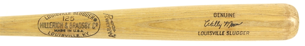 1973-1975 (Post Career) Wally Moon Los Angeles Dodgers H&B Louisville Slugger Professional Model Game Used Bat (MEARS LOA)