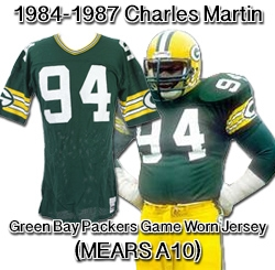 4631f72d64a 1984-87 Charles Martin Green Bay Packers Game Worn Home Jersey (MEARS A10)