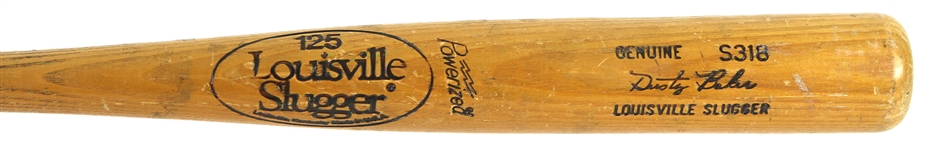 1980-83 Dusty Baker Los Angeles Dodgers Louisville Slugger Professional Model Game Used Bat (MEARS LOA)