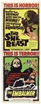 "1966 The She Beast and The Embalmer 14""x 36"" Movie Poster"