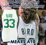 1986-87 Larry Bird Boston Celtics Game Worn Home Jersey (MEARS A10)