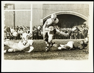 "1960 Paul Hornung Green Bay Packers 7""x 9"" B&W Photo"