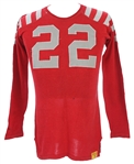 1950s Wilson Red/Silver #22 Game Worn Football Jersey (MEARS LOA)