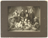 "1905 Antique 11""x 14"" Cabinet Photo ""Union Suits, Melon Ball, Nose Guard"""