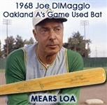 1968 Joe DiMaggio Oakland Athletics H&B Louisville Slugger Professional Model Post Career Coaches Bat (MEARS LOA