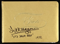 "1972 Lyle Waggoner ""Its Your Bet"" Signed Guest Book (Lyle Waggoner Collection)(JSA)"