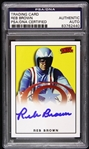 1979 Reb Brown Captain America (yellow background) Signed LE Trading Card (PSA/DNA Slabbed)