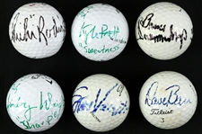 2000s PGA Signed Golfed Balls Including Dave Barr, Chi-Chi Rodriguez, and more (JSA)