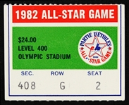 1982 All Star Game Ticket Stub
