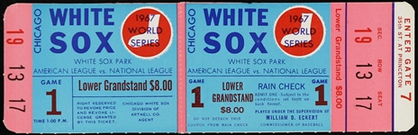 1967 Chicago White Sox World Series Game 1 Ticket