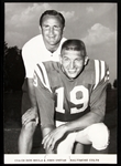"1965 Johnny Unitas and Don Shula Baltimore Colts 5""x 7"" B&W Photo"