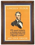 "1920s-1930s Lincoln Flour ""Ask Your Grocer"" 20 1/2""x 26 1/2"" Framed Advertising Poster"