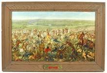 "1896 Reprint Custers Last Fight Anheuser Busch 20""x 31"" Framed Lithograph"