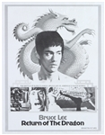 "1972 Bruce Lee Return of the Dragon 17""x 22"" Poster"