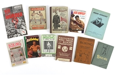 1890s-1950s Boxing Publication Collection - Lot of 11