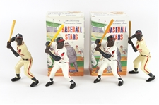 1950s-1980s Hank Aaron Milwaukee Braves Original & Reproduction Hartland Statues (Lot of 4)