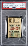 1942 (May 23rd) Ted Williams HR #101 / Jimmy Foxx HR #524 Boston Red Sox Athletics Ticket Stub (PSA/DNA Slabbed)