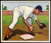 "1950 Virgil ""Red"" Stallcup Cincinnati Reds Bowman Trading Card"
