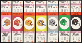 1984 Chicago Blitz Football Tickets (Lot of 7)