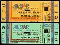 1974 All-Star Game College All-Stars vs Miami Dolphins Tickets