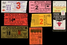 1970s Basketball Ticket Stubs Including Chicago Bulls, Milwaukee Bucks, Los Angeles Lakers and more (Lot of 7)