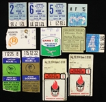 1960s-1970s Football Ticket Stubs Including Chicago Bears, Green Bay Packers, Washington Redskins and more (Lot of 12)