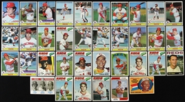 1960s-1970s Cincinnati Reds Topps Trading Cards Including Roger Nelson, Chico Cardenas, Jim OToole and more (Lot of 36)