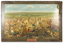 "1896 Reprint Custers Last Fight Anheuser Busch 27""x 42"" Framed Lithograph"