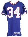 1992 Thurman Thomas Buffalo Bills Signed Game Worn Home Jersey (MEARS A10/*JSA*)