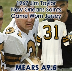 1967 Jim Taylor New Orleans Saints Game Worn Road Jersey (MEARS A9.5)