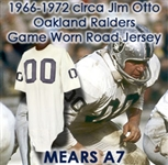 1960s (late) Jim Otto Oakland Raiders Signed Game Worn Road Jersey (MEARS LOA/Otto LOA & PSA/DNA)