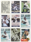 1990s Hank Aaron Milwaukee Braves Signed Front Row Trading Card w/ Upper Deck and The Score Board (Lot of 8)(JSA)