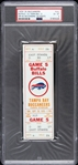 1976 Buffalo Bills vs. Tampa Bay Buccaneers Game 5 Full Ticket (PSA/DNA Slabbed)