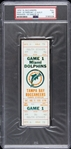 1976 Miami Dolphins vs. Tampa Bay Buccaneers Game 1 Full Ticket (PSA/DNA Slabbed)