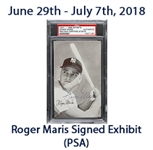 "1947-1966 Roger Maris New York Yankees Signed 3""x 5"" Exhibit Card (PSA/DNA Slabbed)"