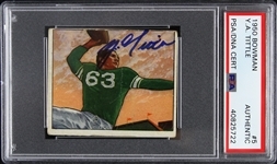 1950 Y. A. Tittle Baltimore Colts Signed Bowman Trading Card (PSA/DNA Slabbed)