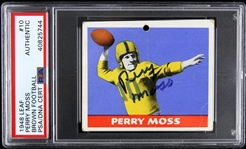 1948 Perry Moss Green Bay Packers Signed Leaf Gum Co. Trading Card (PSA/DNA Slabbed)