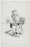 "1886 Cap Anson Chicago White Stockings Chicago Tribune 14""x 22"" Pen and Ink Illustration"