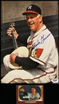 "1952-1956 Charlie Grimm Milwaukee Braves Signed 8""x 10"" Magazine Page & Bowman Trading Card (PSA/DNA)"