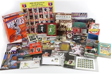 1950s-1990s Topps, Donruss, Fleer Baseball Trading Cards, Stamps, Books, and more (Lot of 600+)