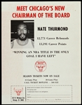 1974-1975 Nate Thurmond Chicago Bulls Scorecard, Schedule, & Season Ticket Form