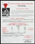 1973-1974 Chicago Bulls Season Ticket Brochure & Order Form